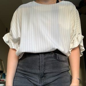 Simple Striped Blouse